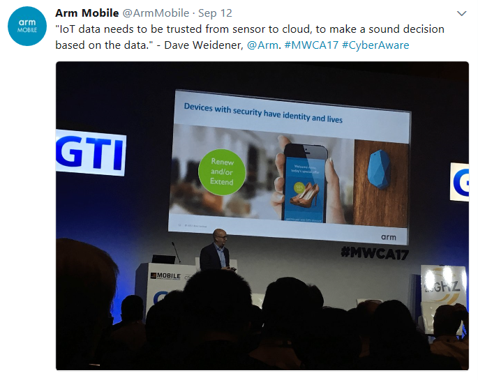 Arm mobile on Twitter at MWC 2017