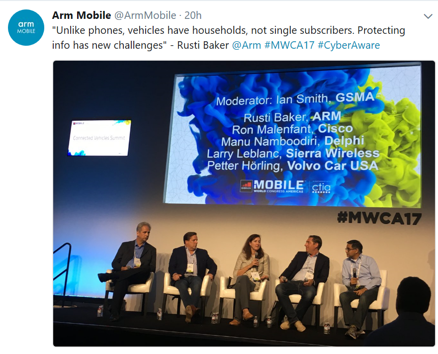Arm mobile on Twitter Connected car