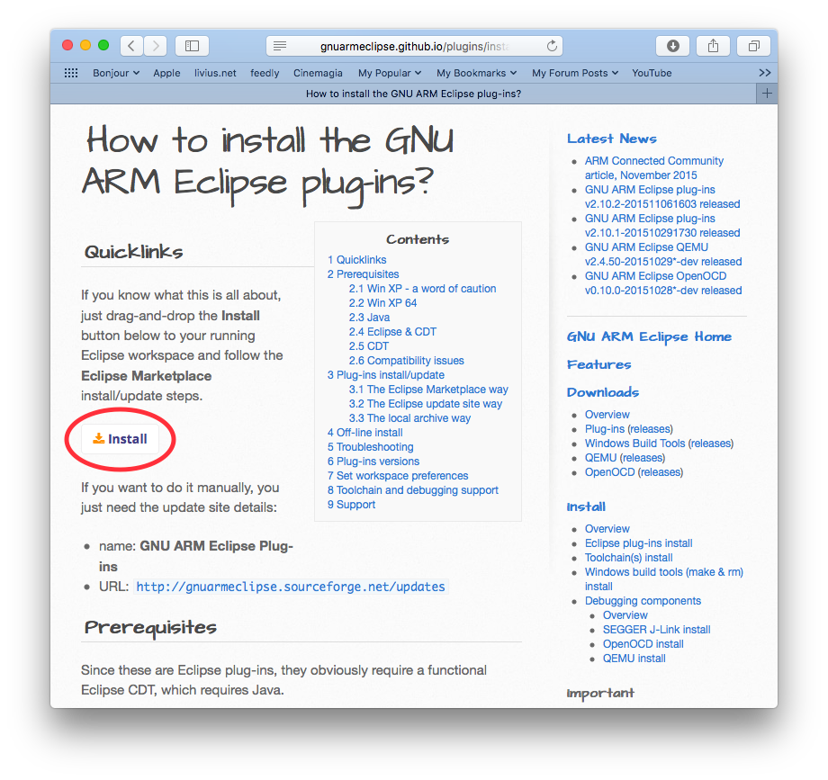GNU ARM Eclipse is now available from Eclipse Marketplace - Tools