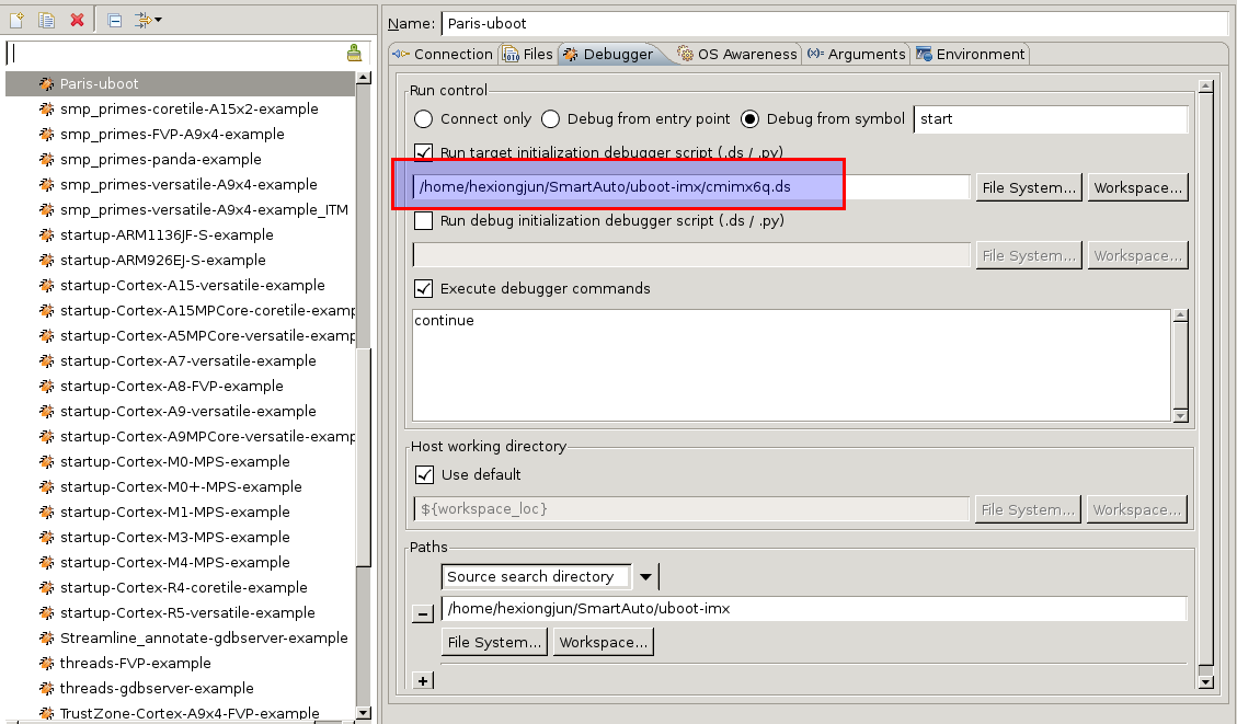 DS-5 and DStream set memory freescale i MX6 error: ERROR