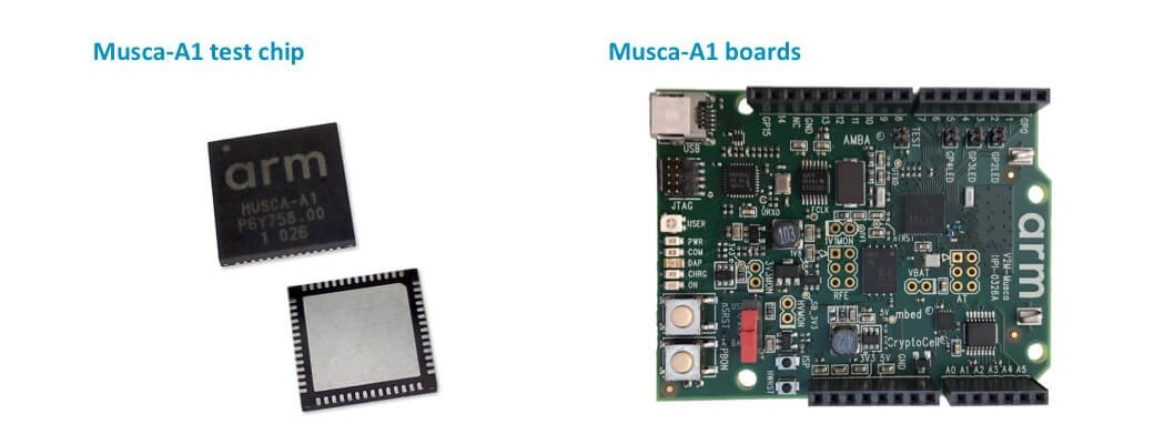 Arm Musca-A1 test chip and Arm Musca-A1 test chip board