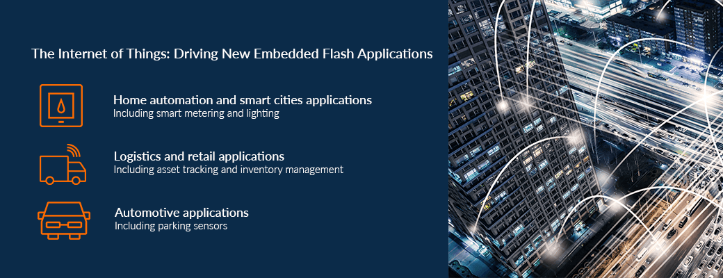 List of use cases for embedded flash applications  - example use cases for embedded flash applications - New eFlash interface standard for IoT – IoT blog – Internet of Things