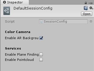ARCore Session Config