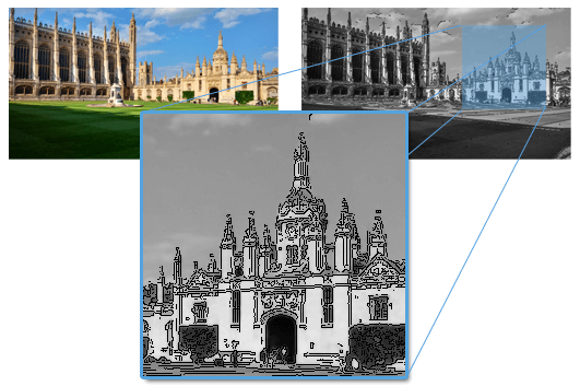 Cartoonified image Cambridge Kings College