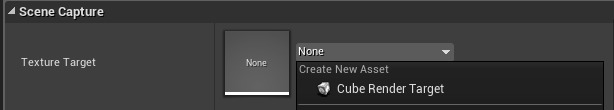 Connecting Scene Capture Cube to a Cube Render Target