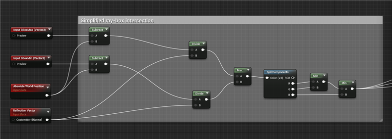 how to implement ray-box intersection in Unreal Engine