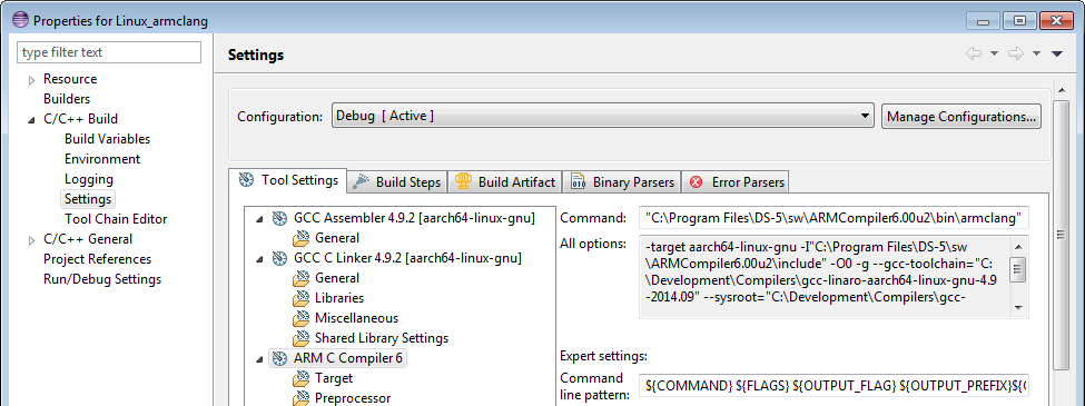 Building ARMv8 Linux Hello World with ARM Compiler 6