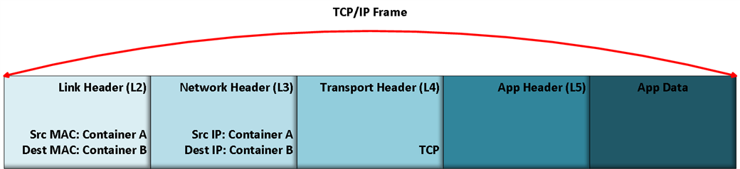 VXLAN Based Overlays: TCP/IP Frame