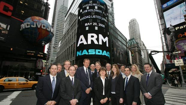ARM Holdings was publicly listed in early 1999