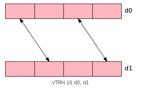 VTRN transposes elements