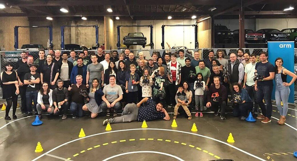 Group photograph: DIY Robocars Seattle event