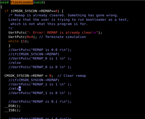 Error : REMAP is already clear