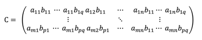 Kronecker product equation