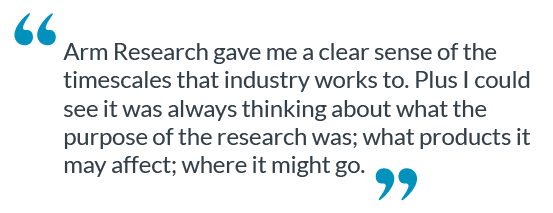 This is a quote about Arm Research.