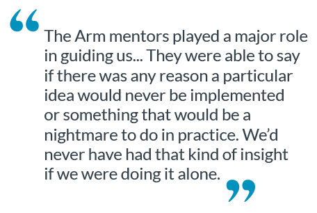 This is a quote about the Arm mentors.