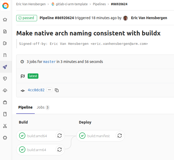 GitLab Pipeline View